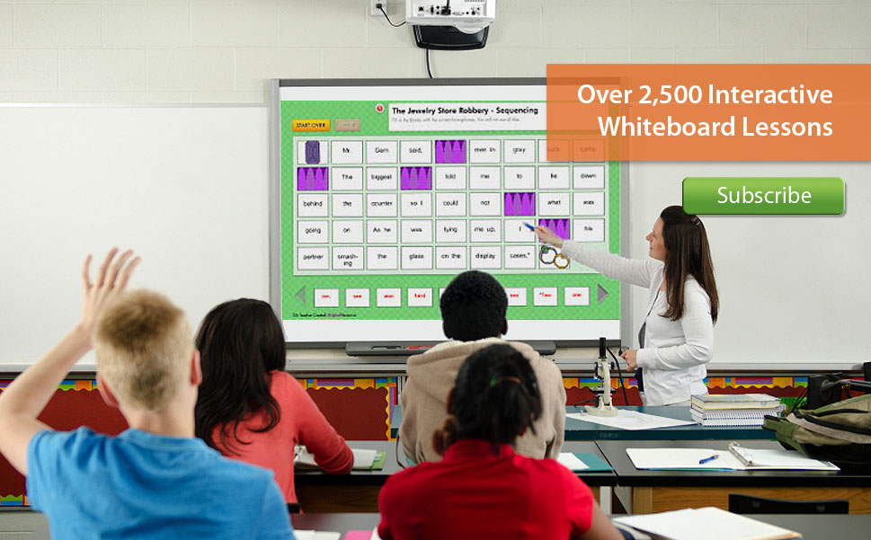 Over 2,500 Interactive Whiteboard Lessons
